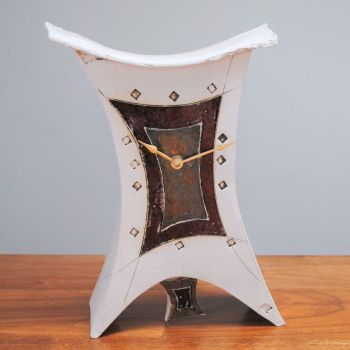 "Ceramic mantel clock - Large with pendulum ""Abstract"""