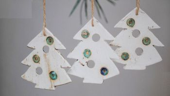 "Christmas tree decoration  ""Tree"" set of 3"