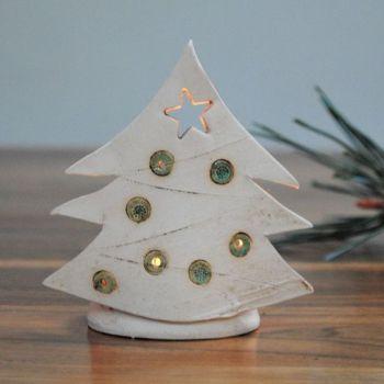 "Christmas tea-light ""Tree green"""