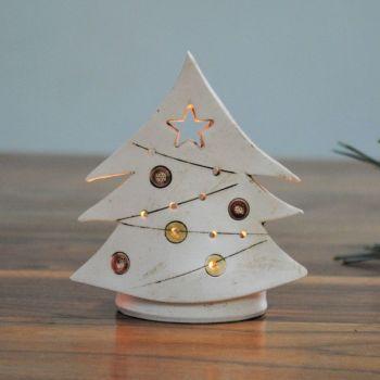 "Christmas tea-light ""Tree red"""