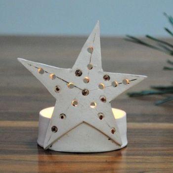 """Christmas tea light holder """"Star"""""""
