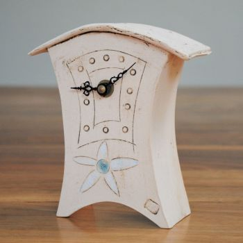 "Ceramic mantel clock - Mini  ""Flower print"""