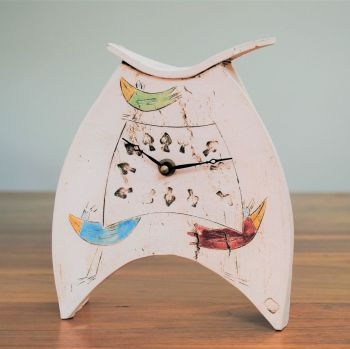 "Ceramic clock mantel - Mediu ""Birds"""
