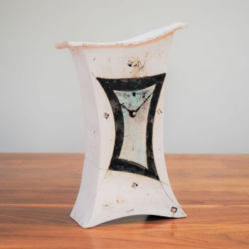 "Ceramic mantel clock - Large ""Abstract"""