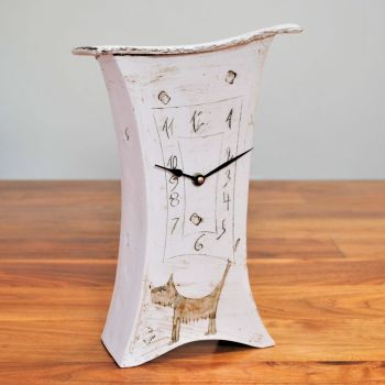 "Ceramic mantel clock - Large ""Dog"""