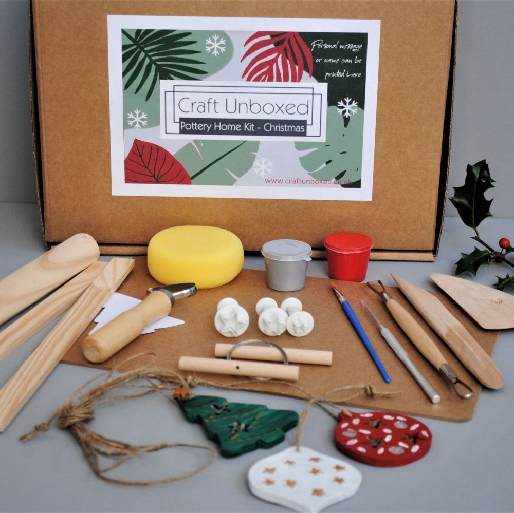 Home pottery kit - Christmas Decs