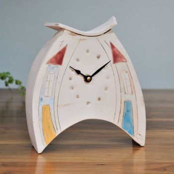 Ceramic clock mantel - Medium