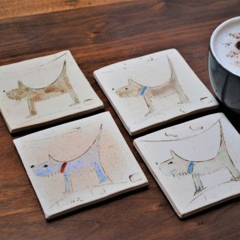 """Coasters """"Dog"""" set of 4"""