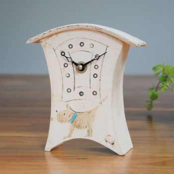 "Ceramic mantel clock - Mini ""Dog"""