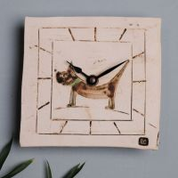 Ceramic wall clock square