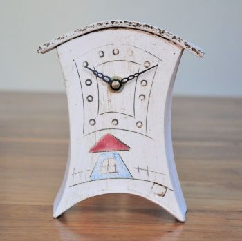"Ceramic mantel clock - Mini  ""House"""