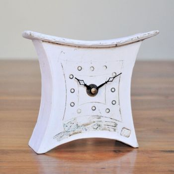 "Ceramic mantel clock - Mini  ""Cat"""