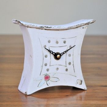 "Ceramic mantel clock - Mini  ""Daisy flower"""