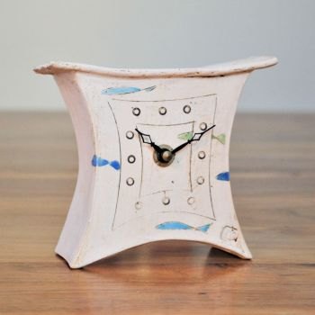 "Ceramic mantel clock - Mini  ""Fish"""