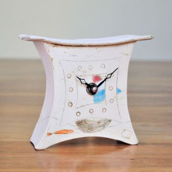 "Ceramic mantel clock - Mini  ""Boat & Fish"""