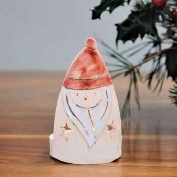 "Christmas tea light holder ""Father Christmas"""