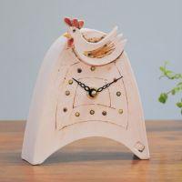Ceramic mantel clock  small rounded