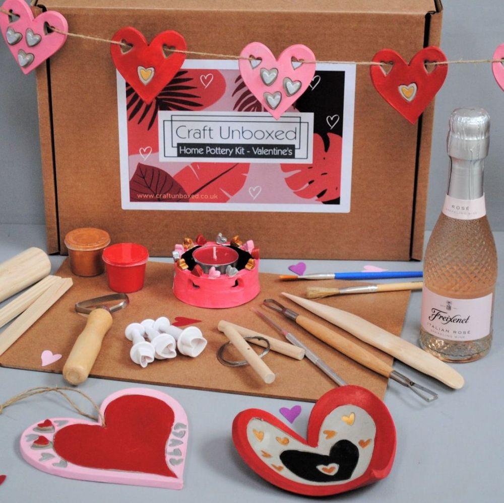 Home pottery kit - Valentine's Day