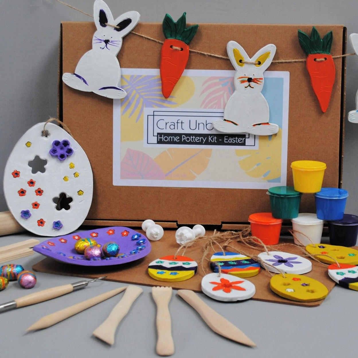 Easter  unique gift from Craft Unboxed - home pottery kit