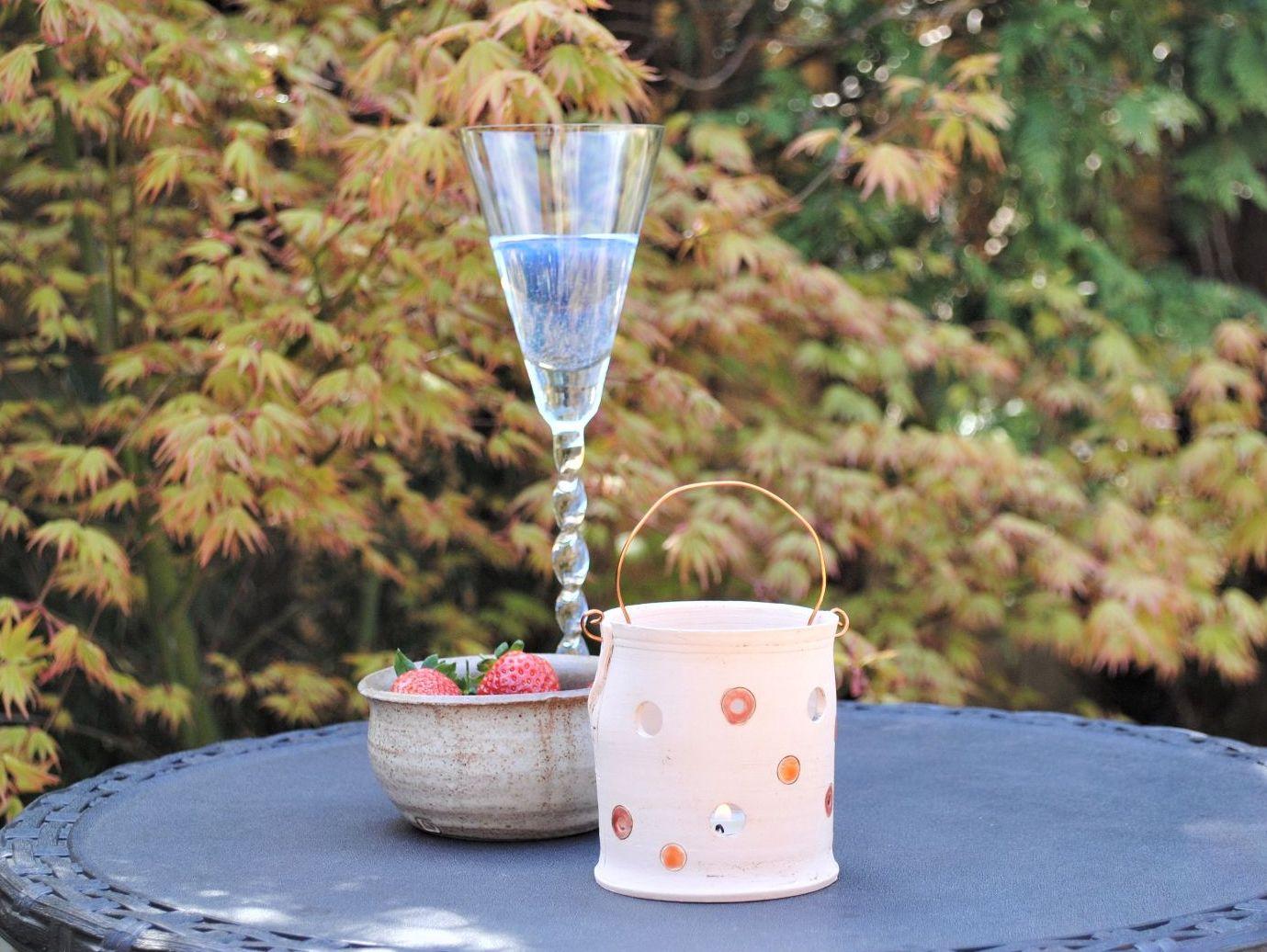 tea light holder for the garden or indoors