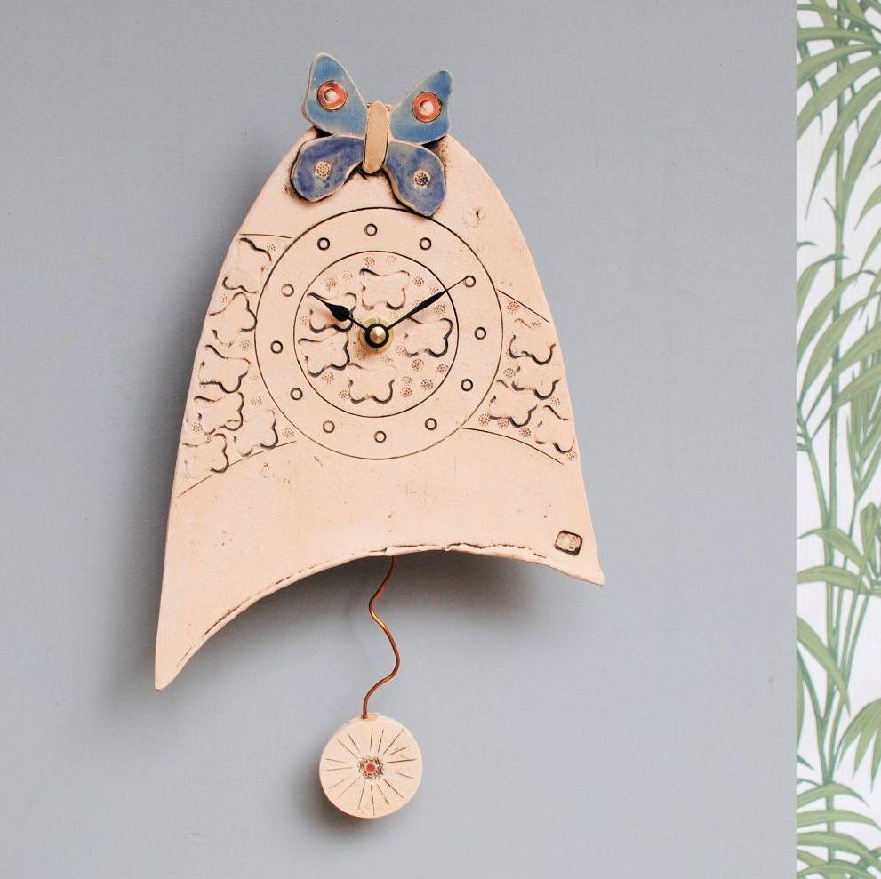 Ceramic pendulum wall clock - Small