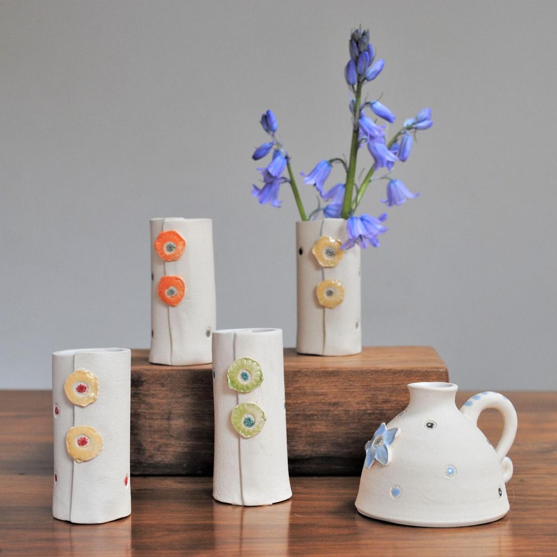 Ceramic coaster, set of four butterflies.