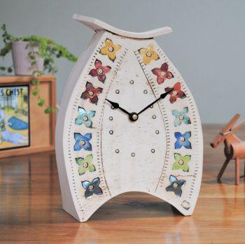 Ceramic clock mantel - Large