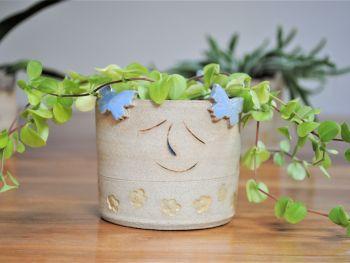 Ceramic decorative planter - small