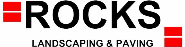 Rocks Landscaping & Paving, site logo.