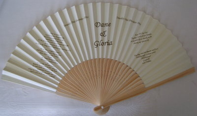 Paper & Bamboo Wedding Invitation/Program Fans