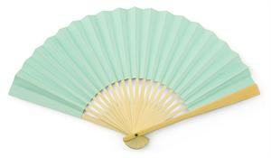 Robins Egg Paper Hand Fan