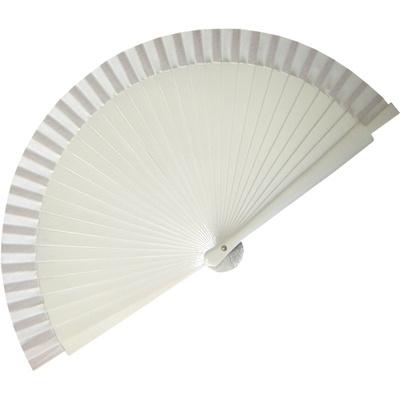 White Wedding Fan (19cm)
