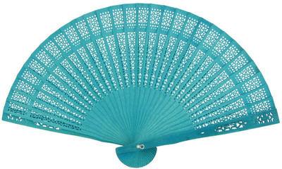 Turquoise Sandalwood Fans