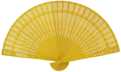 Yellow Sandalwood Fans