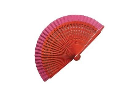 Dark Red Wooden Wedding Fan - Varnished  SPECIAL OFFER!