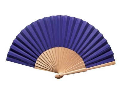 Purple Fabric & Wooden Fan