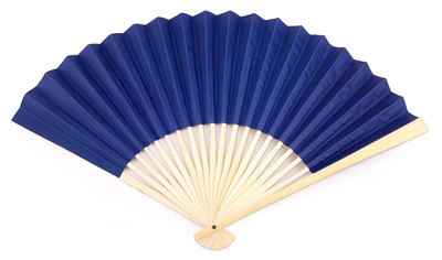 CLEARANCE SALE - Royal Blue Paper Hand Fans