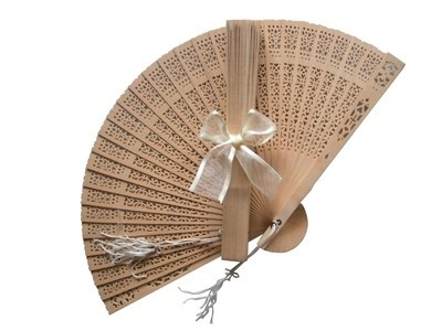 Sandalwood Fan (with optional bow)