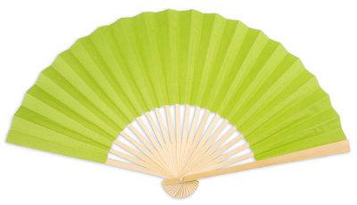 Spring Green Paper Hand Fan