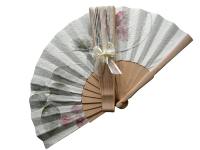 Wedding Fan with Roses