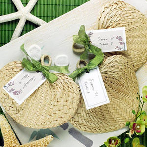 Natural Tropical Buri Straw Fans