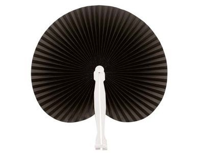 Black Hawaiian Paper Fans