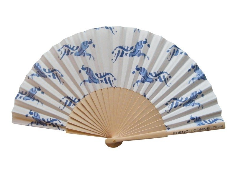 Fabric Fan with Wooden Handle