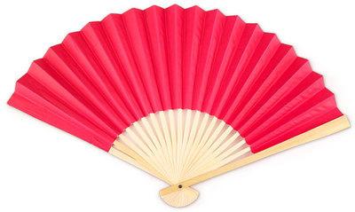 Hot Pink Paper Hand Fan