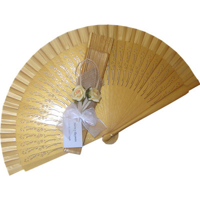 NEW! Gold Decorated Wedding Fan Spring (ref: 02044)