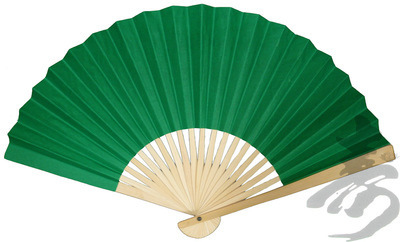CLEARANCE SALE - Grass Green Paper Hand Fan