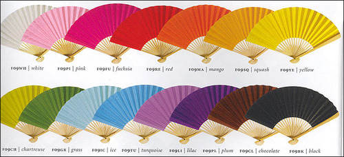 Plain colour paper fan 2