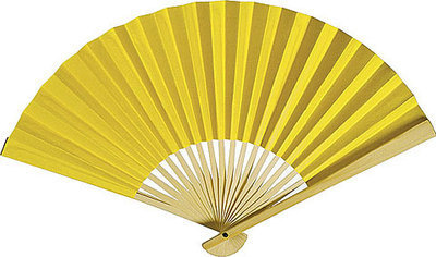 CLEARANCE SALE - Yellow Paper Fans