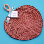 CLEARANCE SALE - Brown Tropical Buri Straw Fans