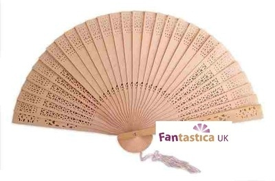 NEW! Exclusive Wood Fan (with optional bow)